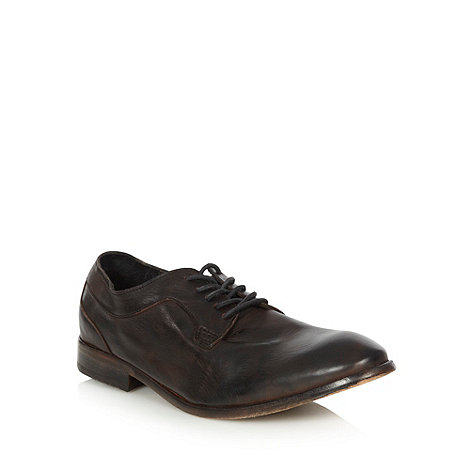 H By Hudson - Black leather lace up shoes