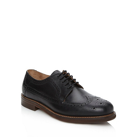 H By Hudson - Black leather brogues