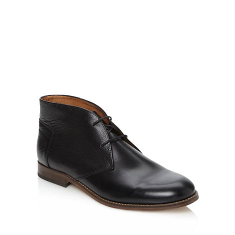 H By Hudson - Black leather lace up chukka boots