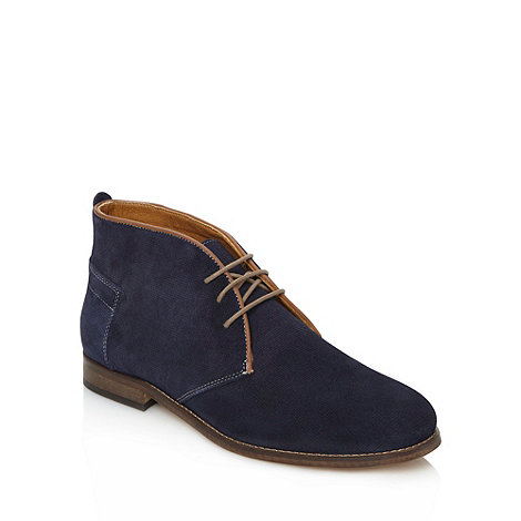 H By Hudson - Blue suede chukka boots