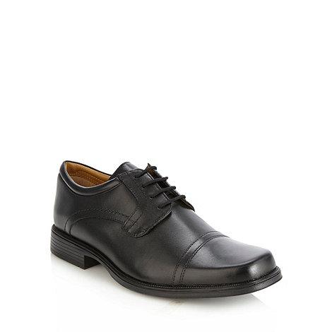 Clarks - Clarks +Hatch+ black cap toed leather shoes