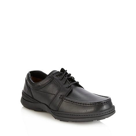 Clarks - Clarks black leather +Line Path+ shoes