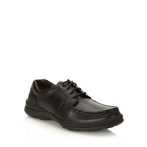 Clarks - Wide fit clarks black +line path+ leather lace up shoes