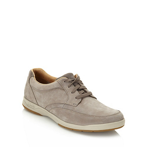 Clarks - Clarks grey suede lace up shoes