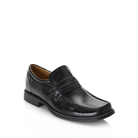 Clarks - Clarks black +Handle Work+ leather loafers