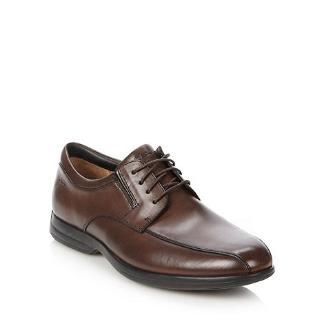 Clarks - Clarks dark brown +General Over5+ leather shoes