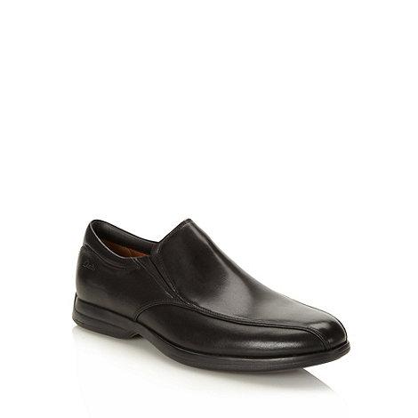 Clarks - Clarks black +General Strides+ leather slip on shoes