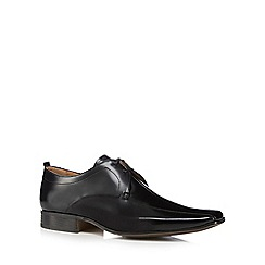 Jeff Banks - Black leather 'Philip' Derby shoes