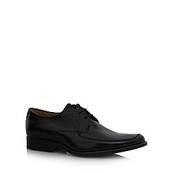 Jeff Banks - Black leather 'Pochard' lace up shoes
