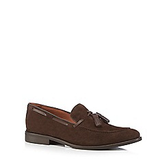 J by Jasper Conran - Brown suede 'Poseidon' tasselled loafers