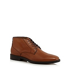 Jeff Banks - Tan leather 'Mallard' chukka boots