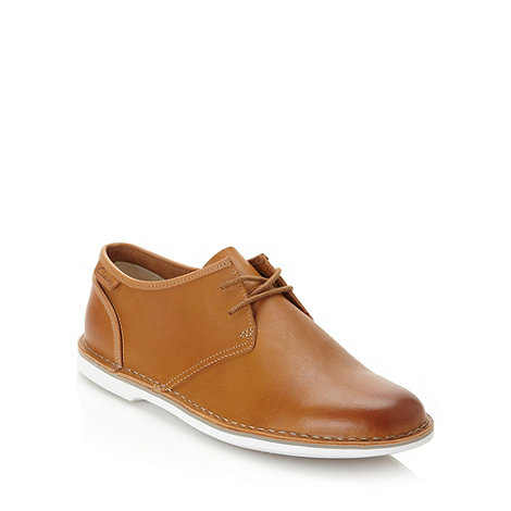 Clarks - Clarks tan +Marden Grove+ leather shoes