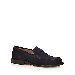 Jeff Banks - Navy suede 'Fulmar' loafers
