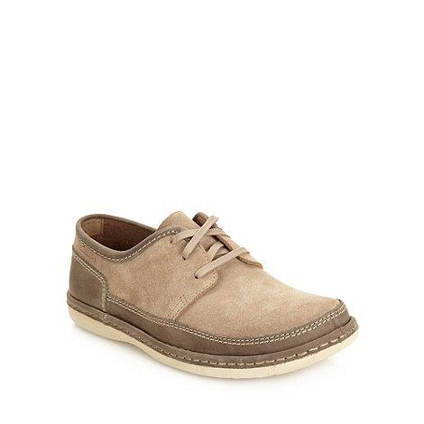 Clarks - Clarks beige +Rishton Moor+ lace up shoes