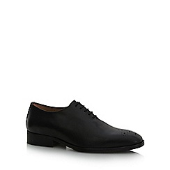 Jeff Banks - Black 'Jay' punch hole detail shoes