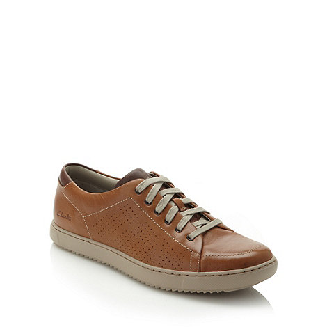 Clarks - Tan +Niven Life5+ leather shoes