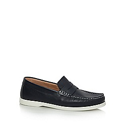 RJR.John Rocha - Navy leather 'Kruger' loafers