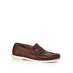 RJR.John Rocha - Dark brown leather 'Kruger' loafers