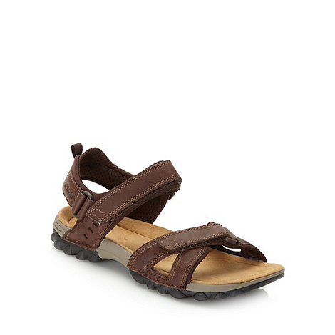 Clarks - Clarks brown +Vector+ leather sandals