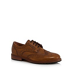 RJR.John Rocha - Tan punched leather Derby shoes