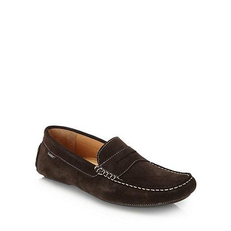 Loake - Dark brown suede moccasins
