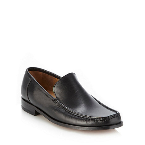 Loake - Black formal leather moccasins