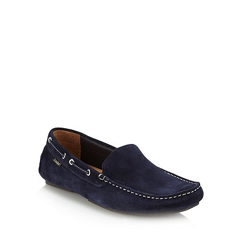 Loake - Navy suede moccasins
