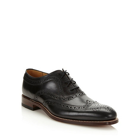 Loake - Designer black leather brogues