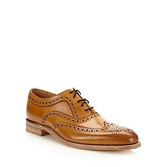 Loake - Designer tan leather brogues