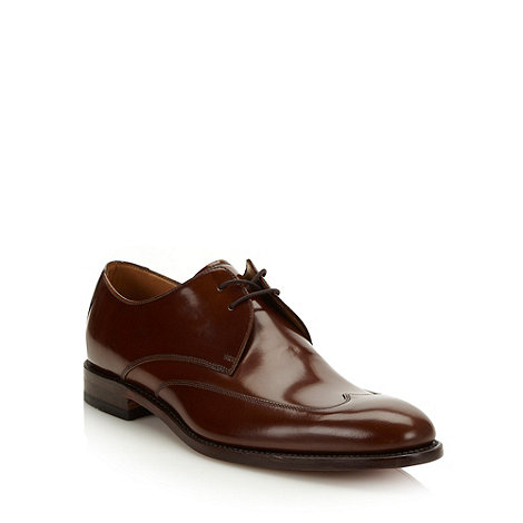 Loake - Designer brown wing tipped leather shoes