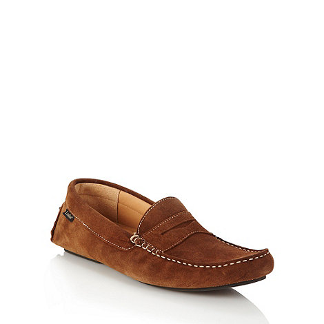 Loake - Tan suede loafers