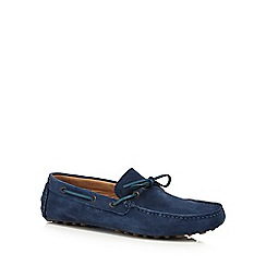 J by Jasper Conran - Blue suede 'Apollo' moccasins