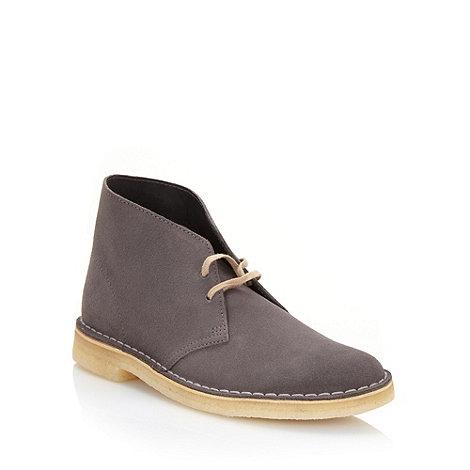 Clarks - Clarks grey +Desert+ suede boots