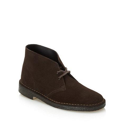 Clarks - Clarks dark brown +Desert+ suede boots