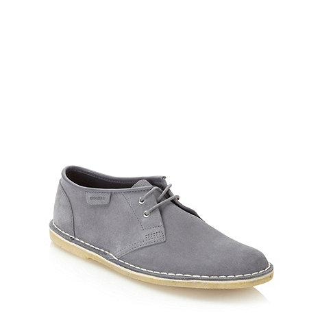 Clarks - Clarks grey matte leather shoes
