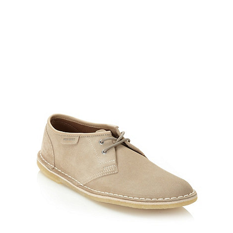 Clarks - Clarks taupe matte leather shoes