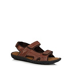 Mantaray - Brown leather sandals