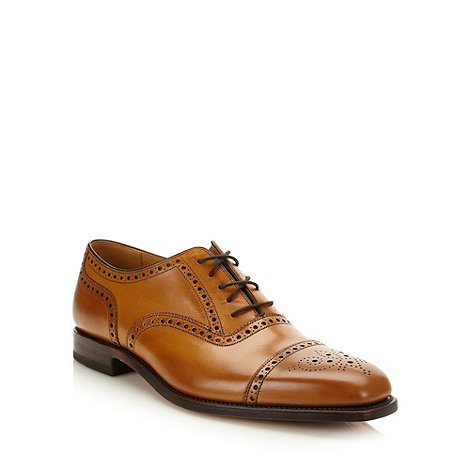 Loake - Tan glazed leather brogues