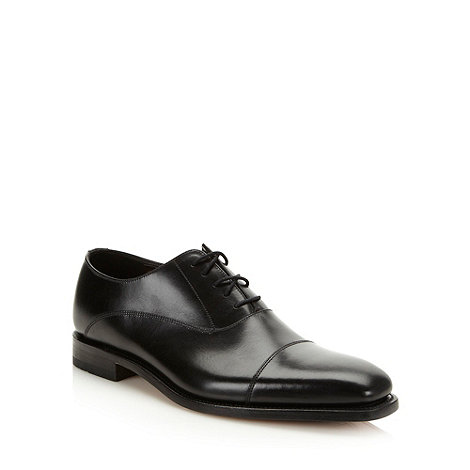 Loake - Black cap toed leather shoes