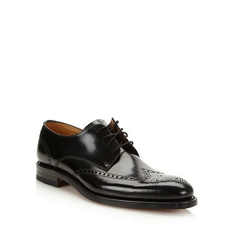 Loake - Black polished leather brogues