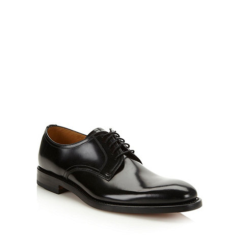 Loake - Black glazed leather formal shoes