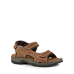 Mantaray - Tan leather sandals