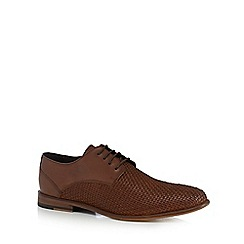 J by Jasper Conran - Brown woven leather shoes