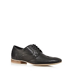 Red Herring - Black leather 'Anders' wingtip derby shoes