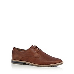 Red Herring - Tan leather 'Donte' Derby shoes