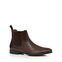 Red Herring - Dark brown leather 'Mars' Chelsea boots