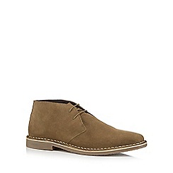 Red Herring - Khaki suede 'Stevie' Desert boots