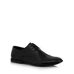 Red Herring - Black leather 'Vermont' Derby shoes