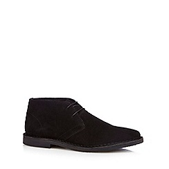 Red Herring - Black suede 'Stevie' Desert boots