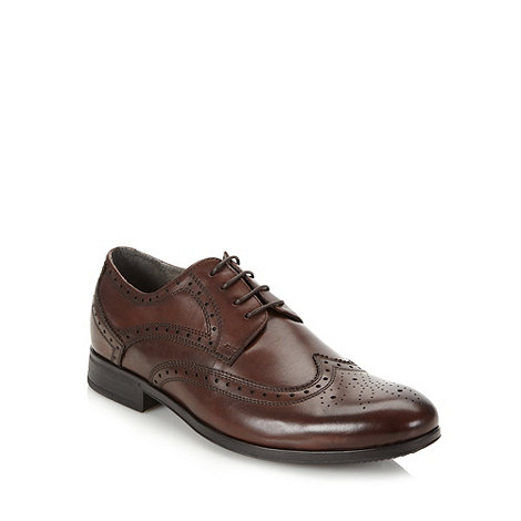 Steptronic - Dark brown leather brogues